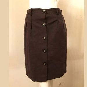 Milly pearl button down career pencil skirt 6